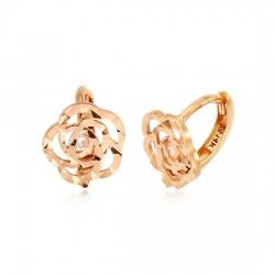 14K / 18K玫瑰闪亮的耳环
